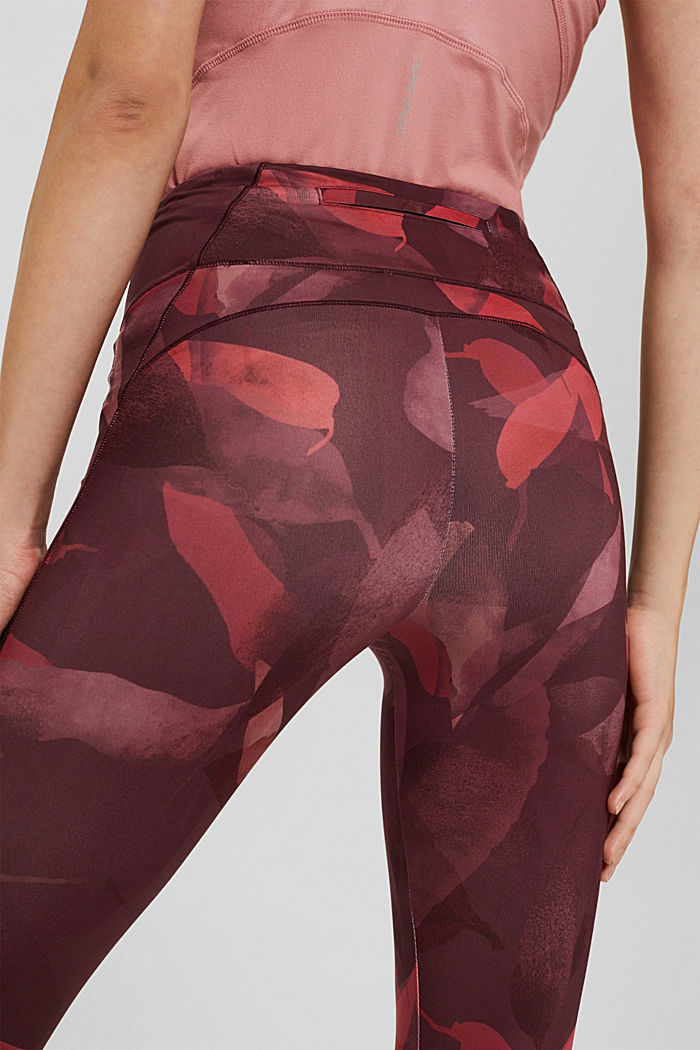Recycled: high-performance leggings with a print, E-DRY, BLUSH, detail image number 2