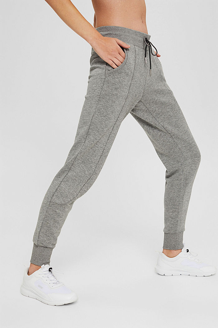 Pantalon de jogging en coton biologique mélangé, MEDIUM GREY, detail image number 0