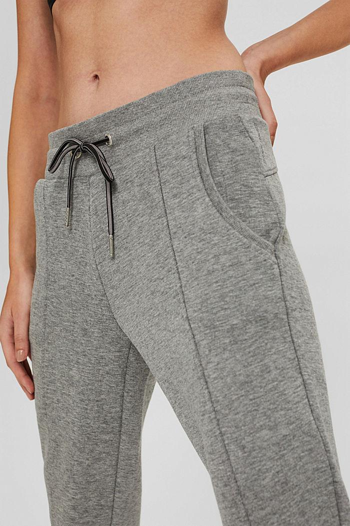 Pantalon de jogging en coton biologique mélangé, MEDIUM GREY, detail image number 2
