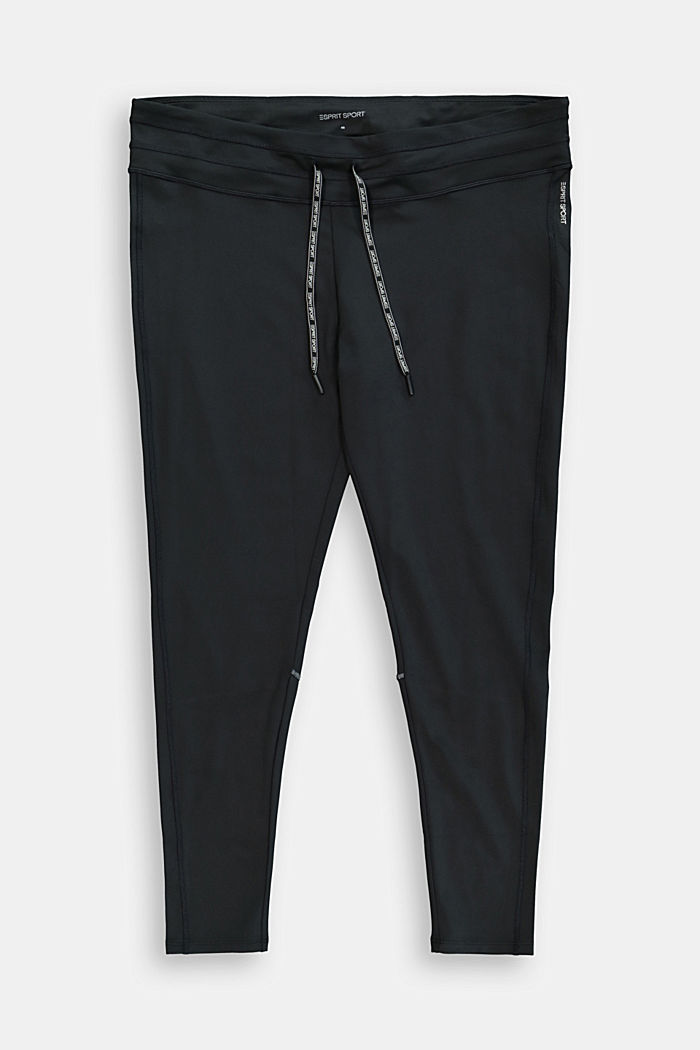 Recycled: CURVY active leggings with E-Dry, BLACK, detail image number 0