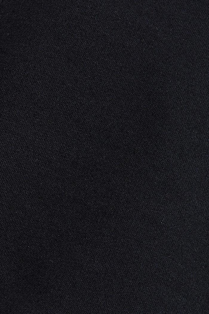 Sweat-Cardigan aus Bio-Baumwoll-Mix, BLACK, detail image number 4