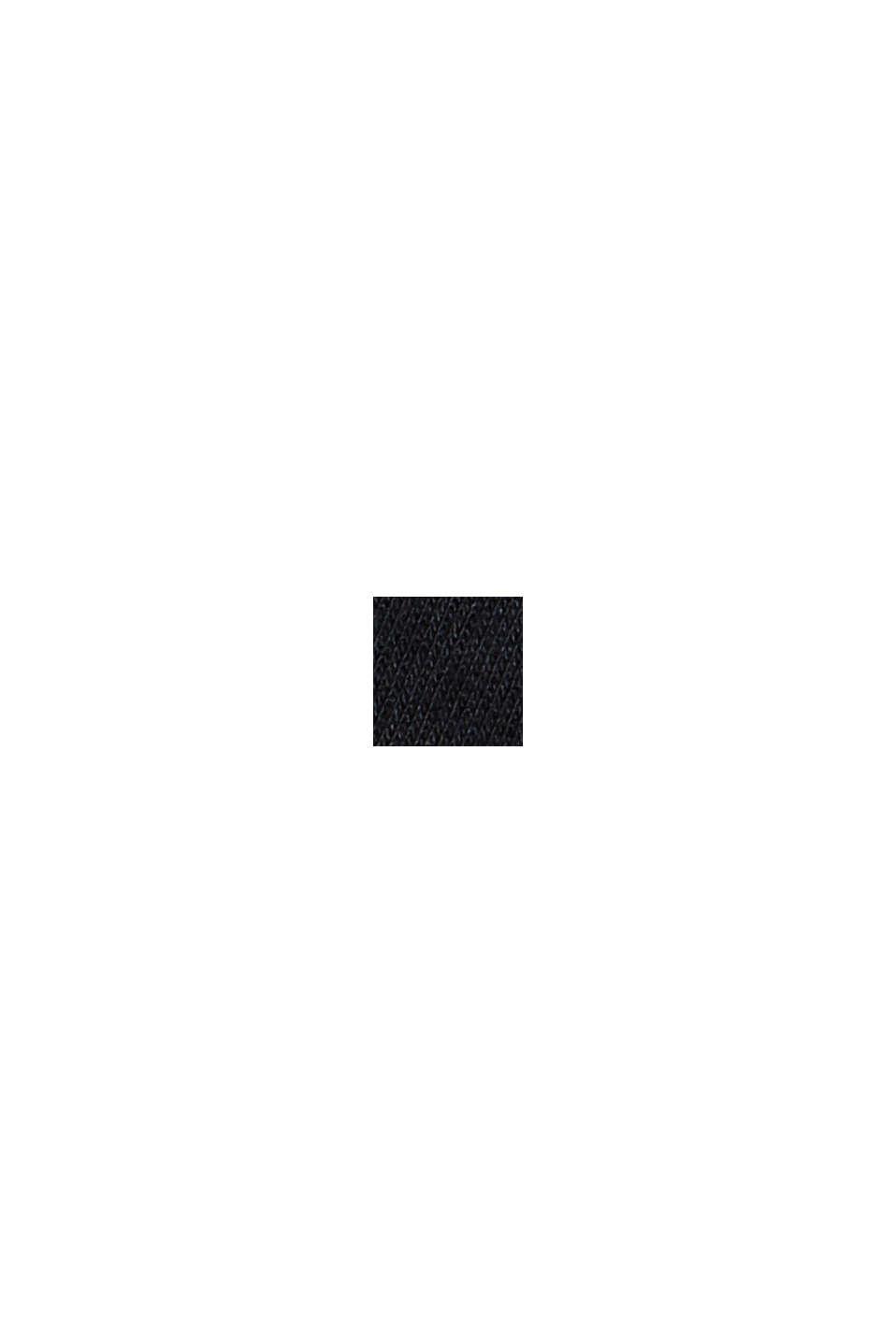 Cardigan molletonné en coton biologique mélangé, BLACK, swatch