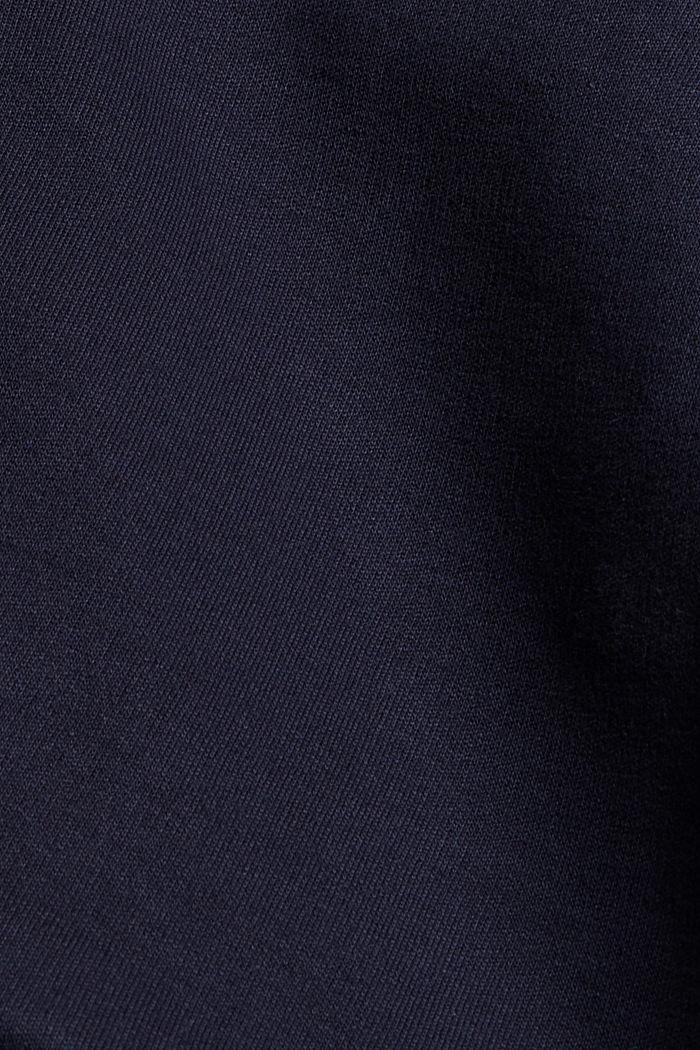 Sweat-Cardigan aus Bio-Baumwoll-Mix, NAVY, detail image number 4