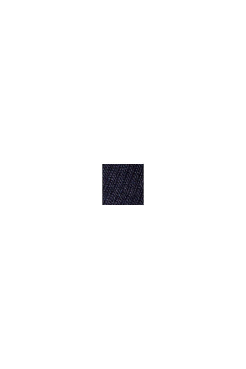 Cardigan molletonné en coton biologique mélangé, NAVY, swatch