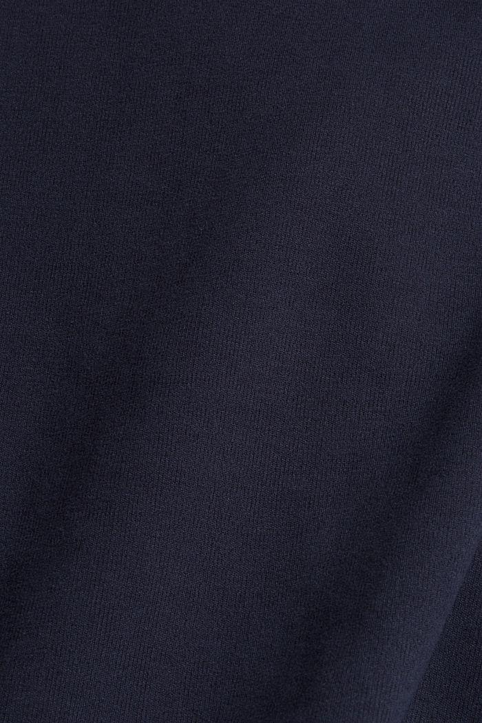 Sudadera con tacto suave, mezcla de algodón ecológico, NAVY, detail image number 4