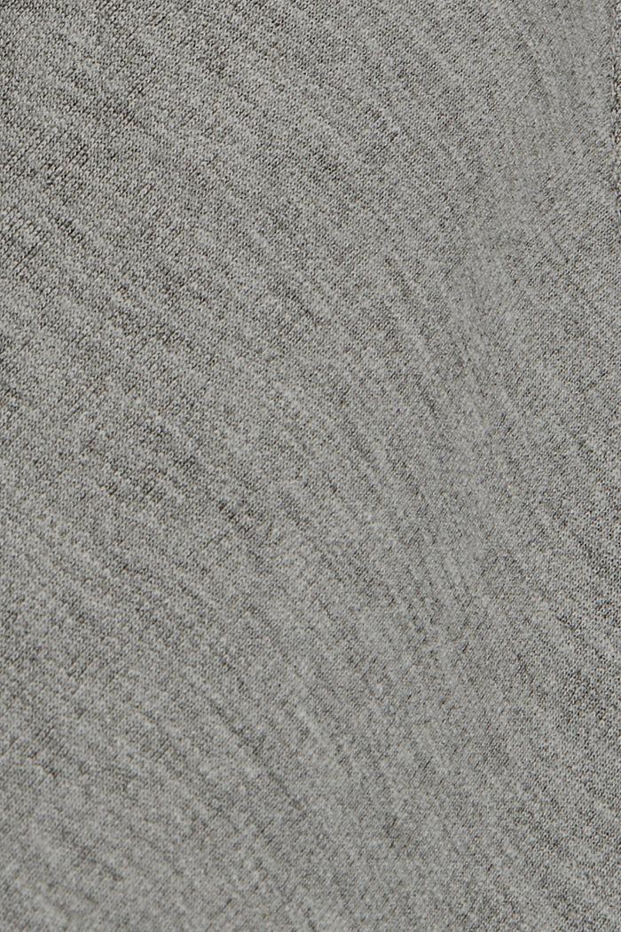 Cardigan molletonné en coton biologique mélangé, MEDIUM GREY, detail image number 4