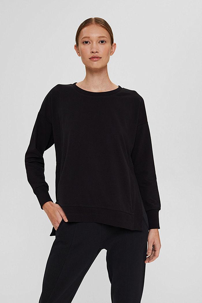 Sweat-shirt en coton bio, BLACK, detail image number 0