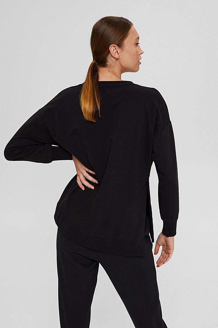 Sweat-shirt en coton bio, BLACK, detail image number 3