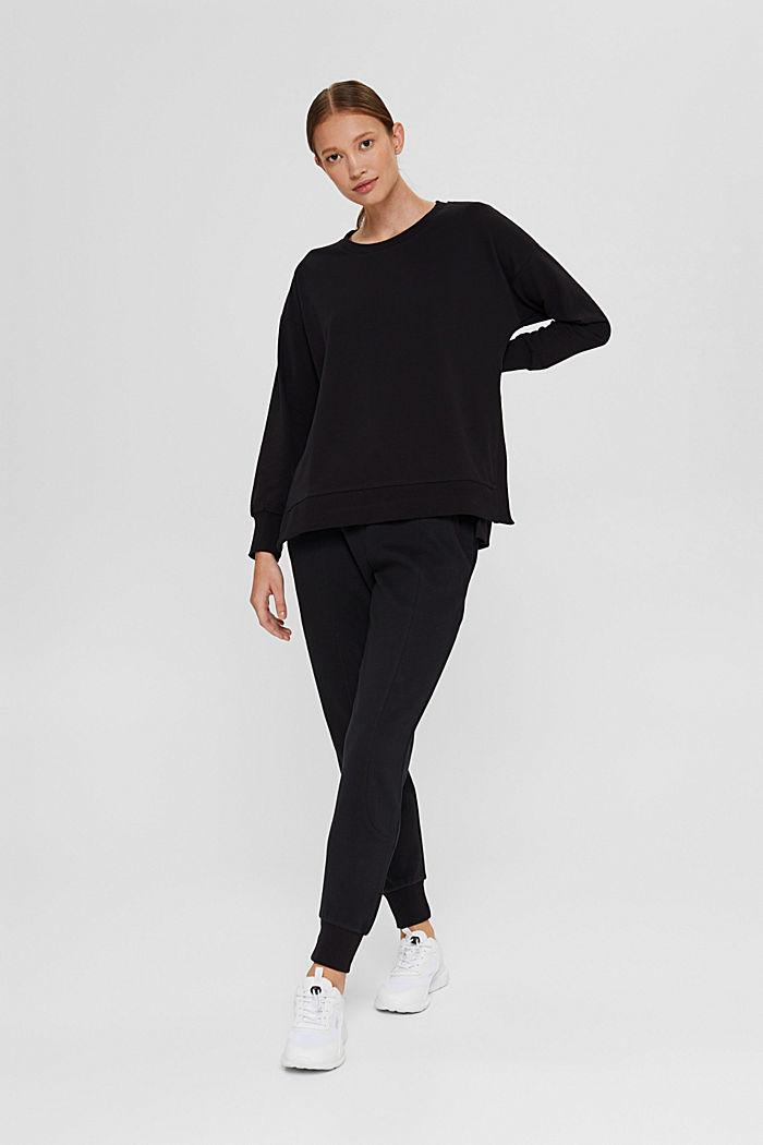 Sweat-shirt en coton bio, BLACK, detail image number 1