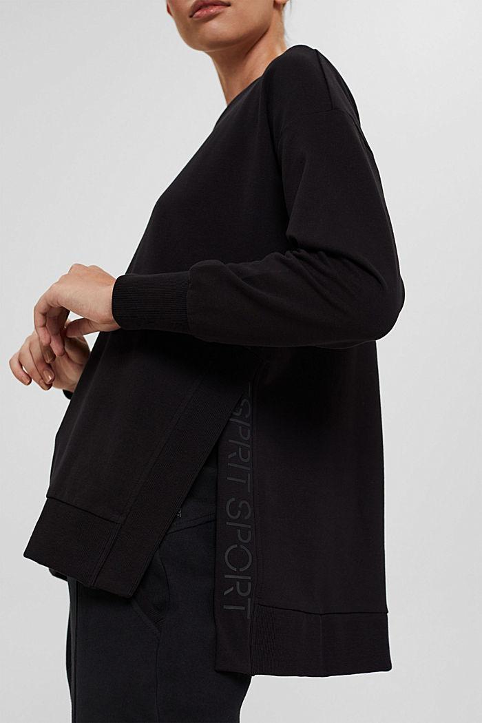 Sweat-shirt en coton bio, BLACK, detail image number 2