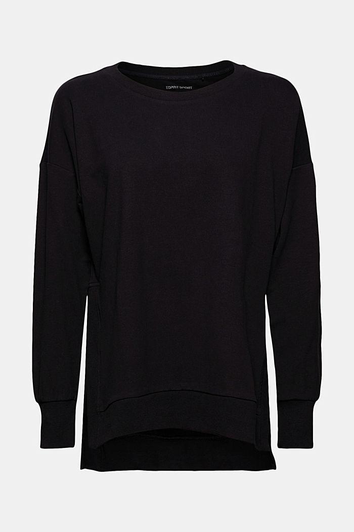 Sweat-shirt en coton bio, BLACK, detail image number 5