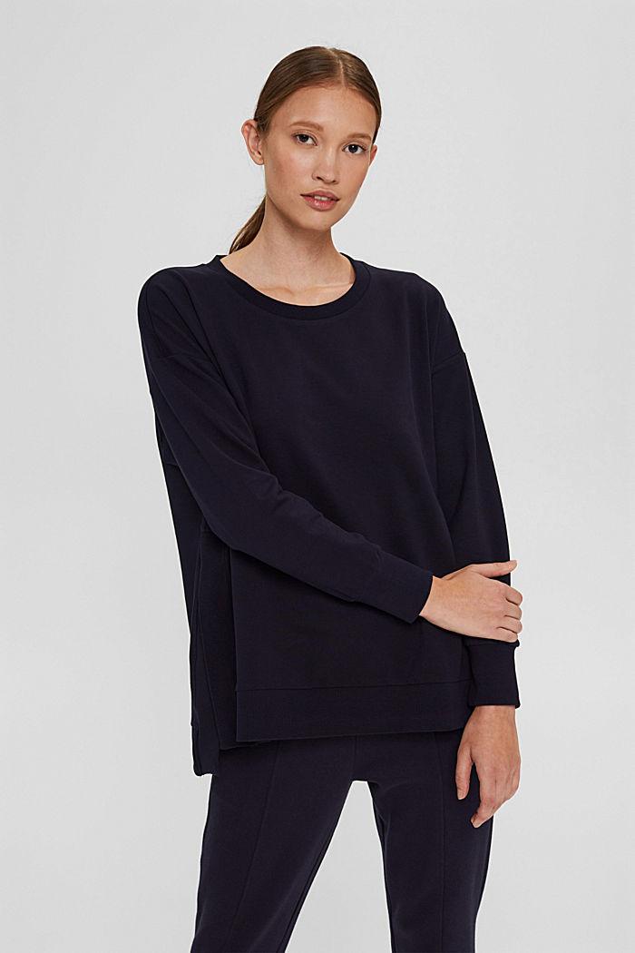 Sweatshirt in organic cotton, NAVY, detail image number 0