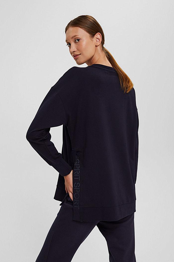 Sweatshirt in organic cotton, NAVY, detail image number 3