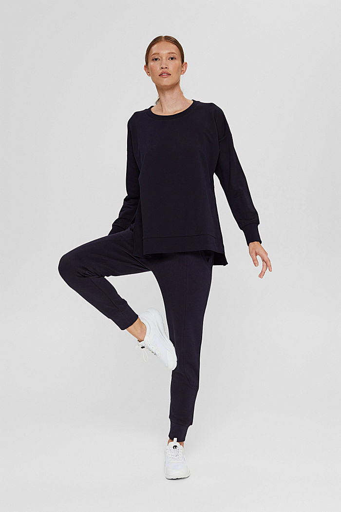 Sweatshirt in organic cotton, NAVY, detail image number 1