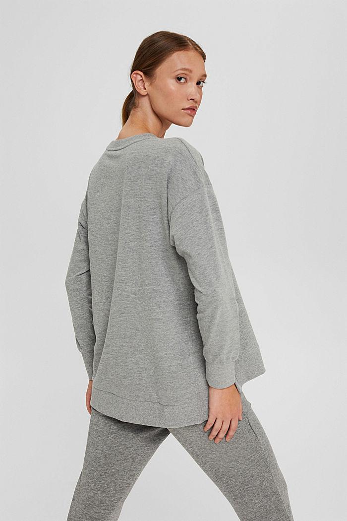 Sweat-shirt chiné en coton biologique, MEDIUM GREY, detail image number 3