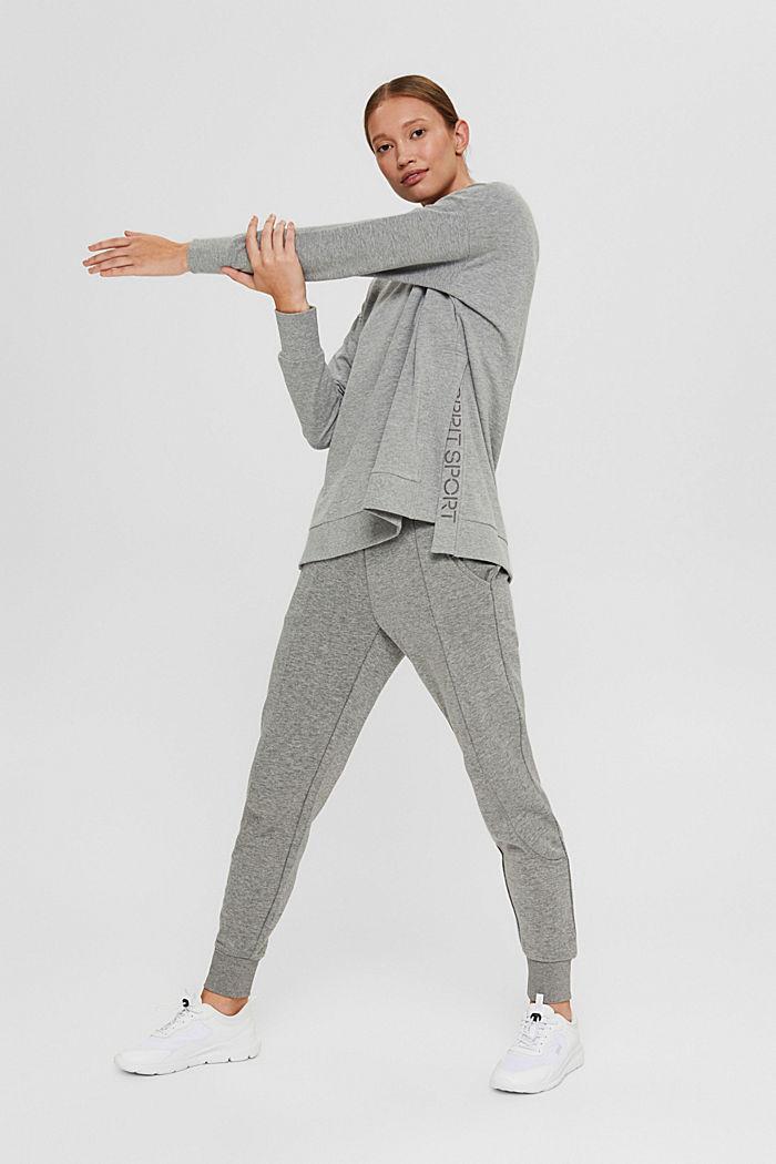 Sweat-shirt chiné en coton biologique, MEDIUM GREY, detail image number 1