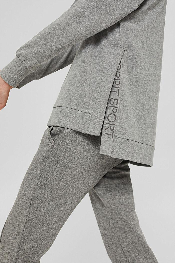 Sweat-shirt chiné en coton biologique, MEDIUM GREY, detail image number 2