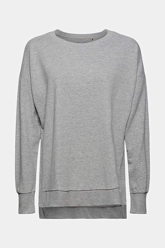Meliertes Sweatshirt aus Organic Cotton