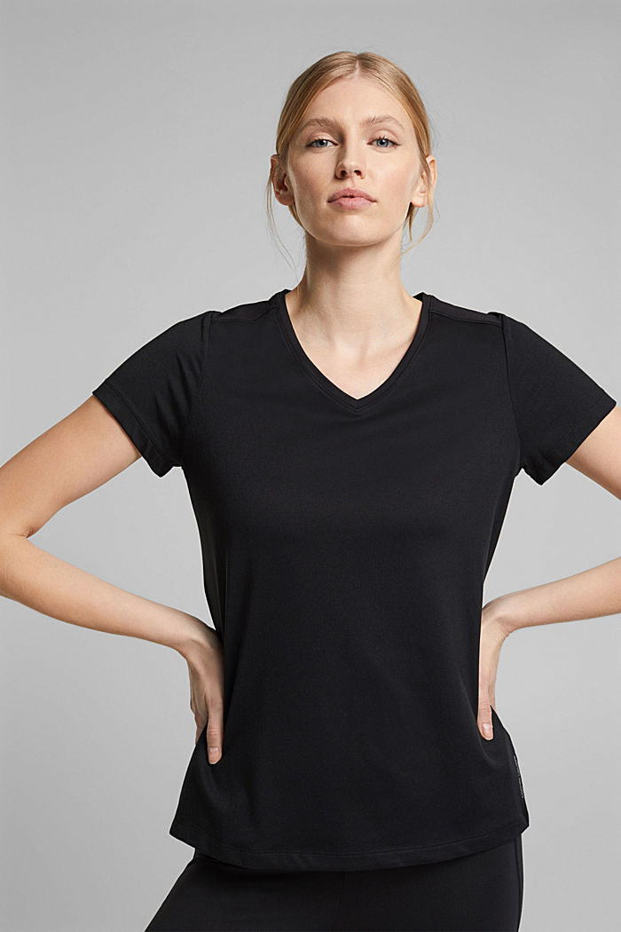 Recycelt: Active-T-Shirt mit E-DRY, BLACK, detail image number 0