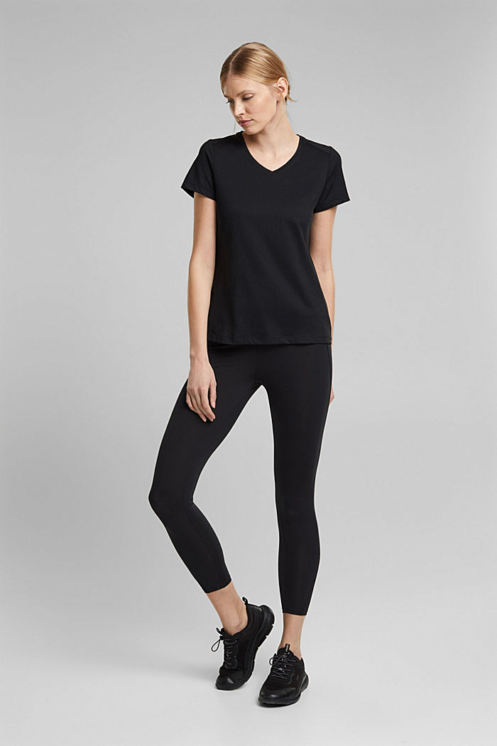 Recycelt: Active-T-Shirt mit E-DRY, BLACK, detail image number 1