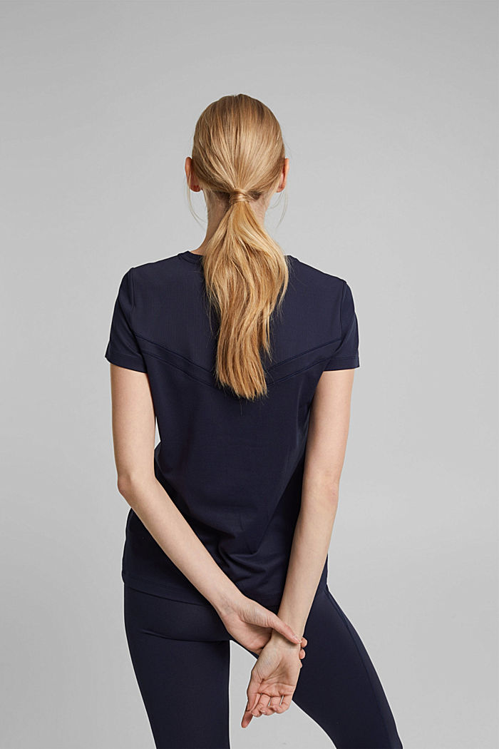 Recycelt: Active-T-Shirt mit E-DRY, NAVY, detail image number 3