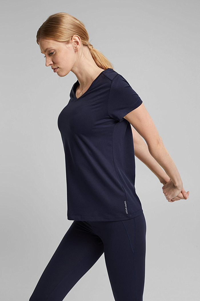 Recycelt: Active-T-Shirt mit E-DRY, NAVY, detail image number 5