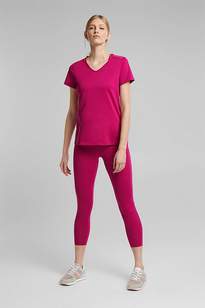 Recycelt: Active-T-Shirt mit E-DRY, BERRY RED, detail image number 1
