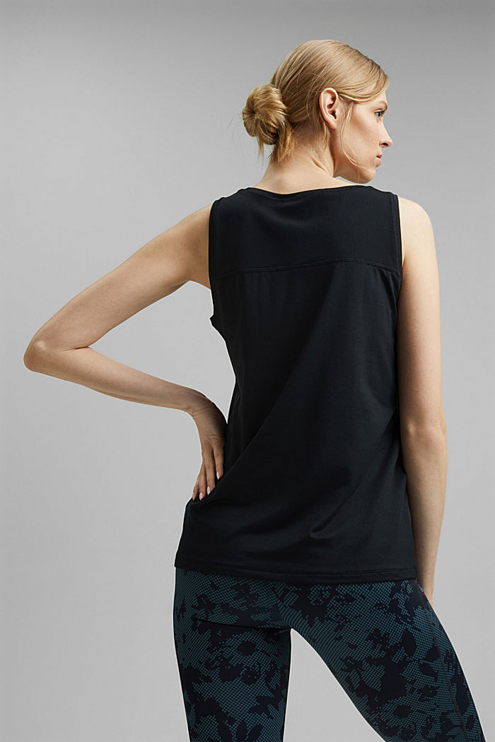 Recycled: active top with E-DRY, BLACK, detail image number 3