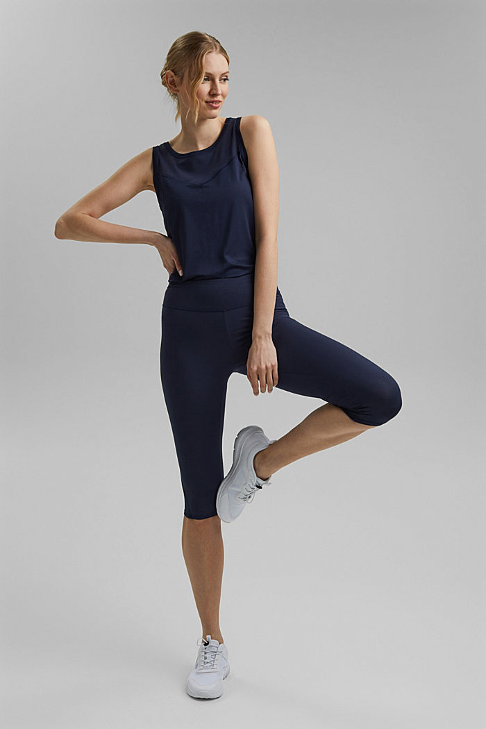 Recycled: active top with E-DRY, NAVY, detail image number 1