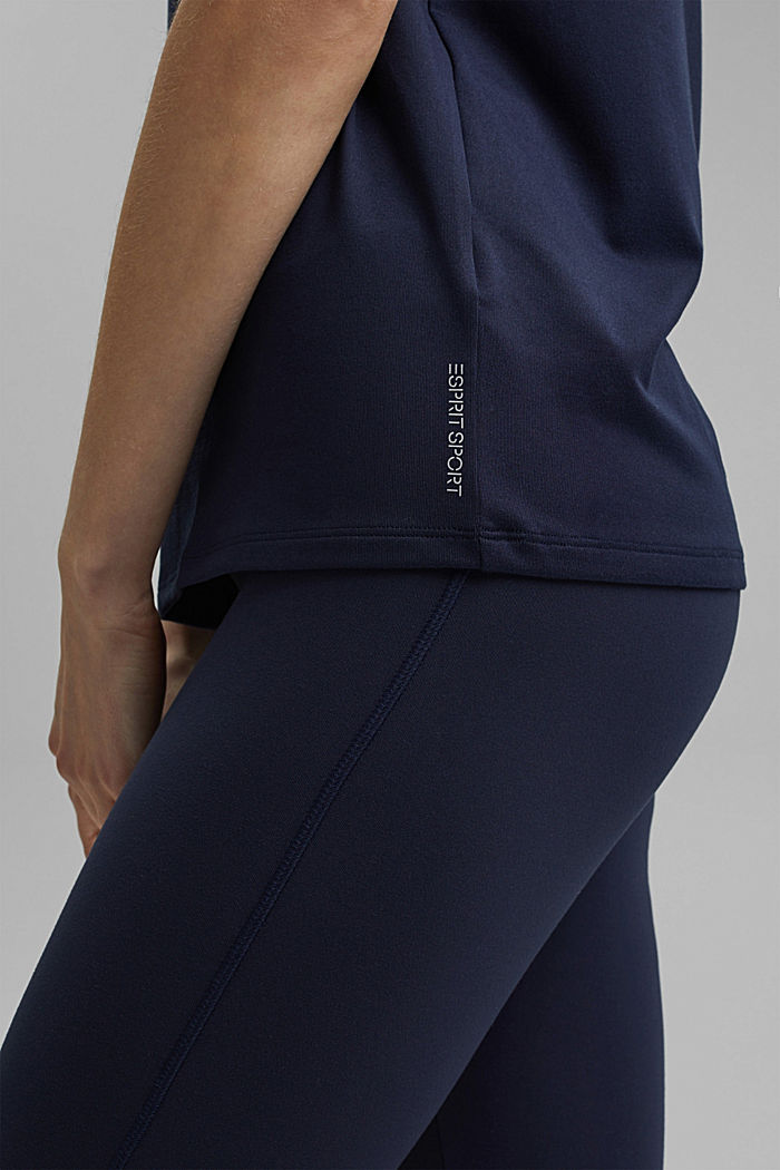 Recycled: active top with E-DRY, NAVY, detail image number 5