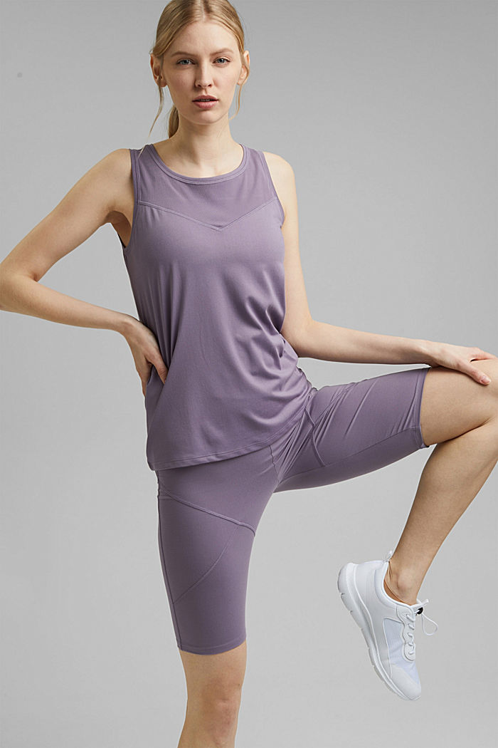 Recycled: active top with E-DRY, MAUVE, detail image number 0