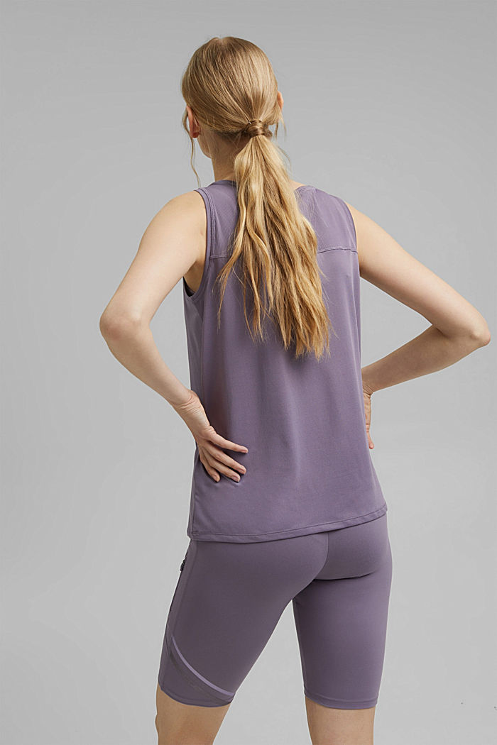 Recycled: active top with E-DRY, MAUVE, detail image number 3