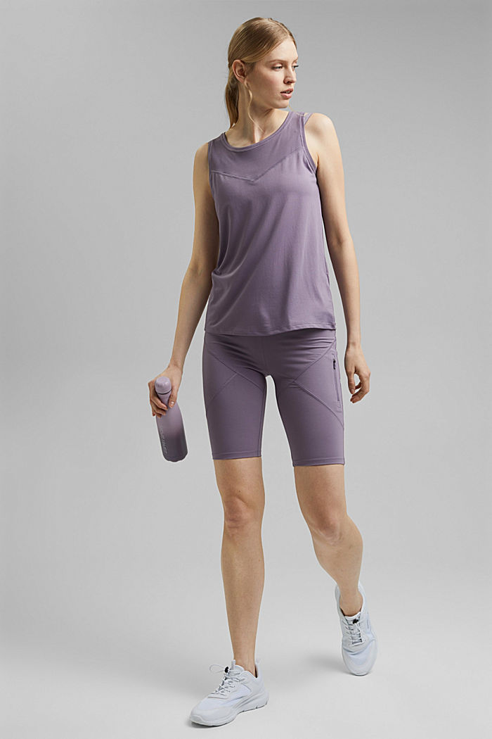 Recycled: active top with E-DRY, MAUVE, detail image number 1