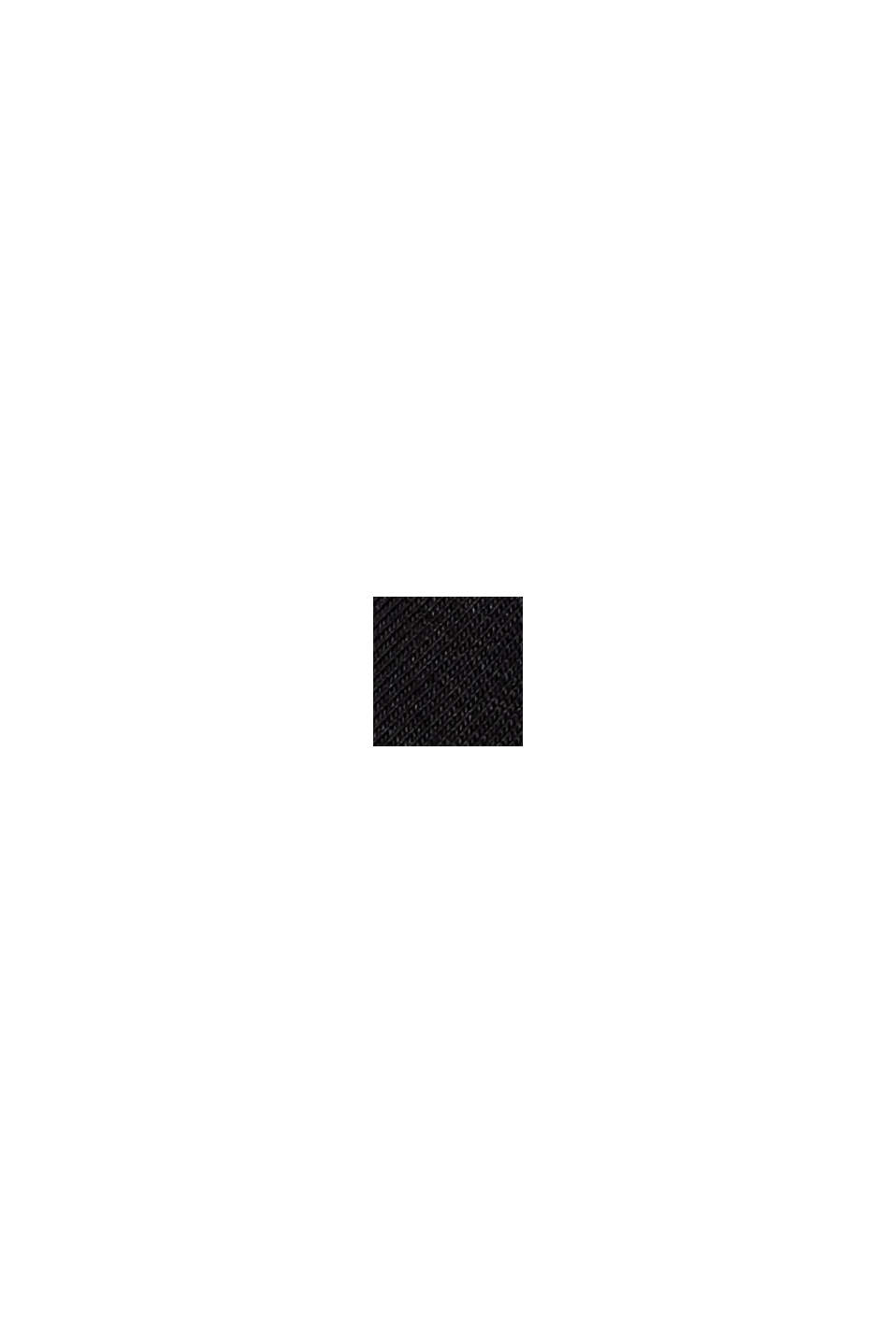 Boxy T-shirt met mesh, biologisch katoen, BLACK, swatch