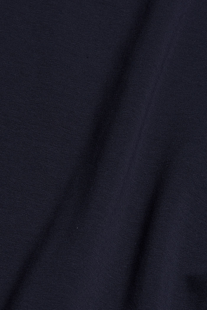 Boxy T-shirt met mesh, biologisch katoen, NAVY, detail image number 4