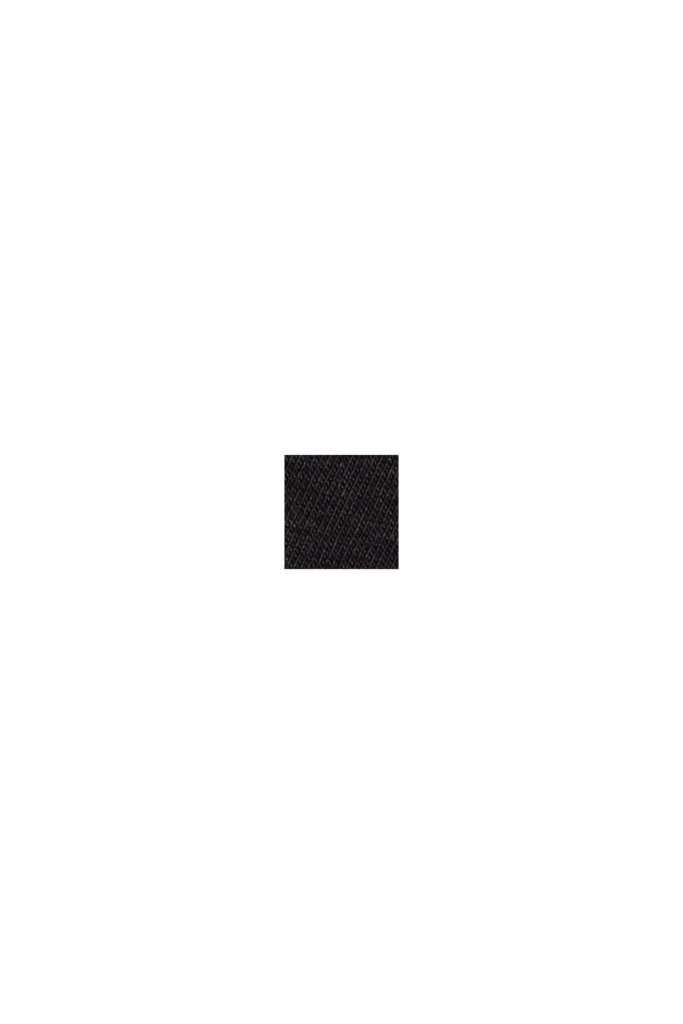 Sportshirt met mesh inzet, biologisch katoen, BLACK, swatch