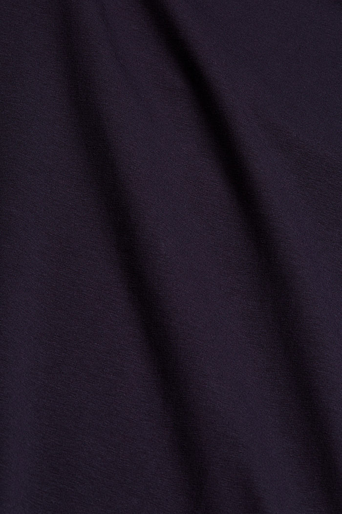 Maglia Active con inserti in mesh, cotone biologico, NAVY, detail image number 4