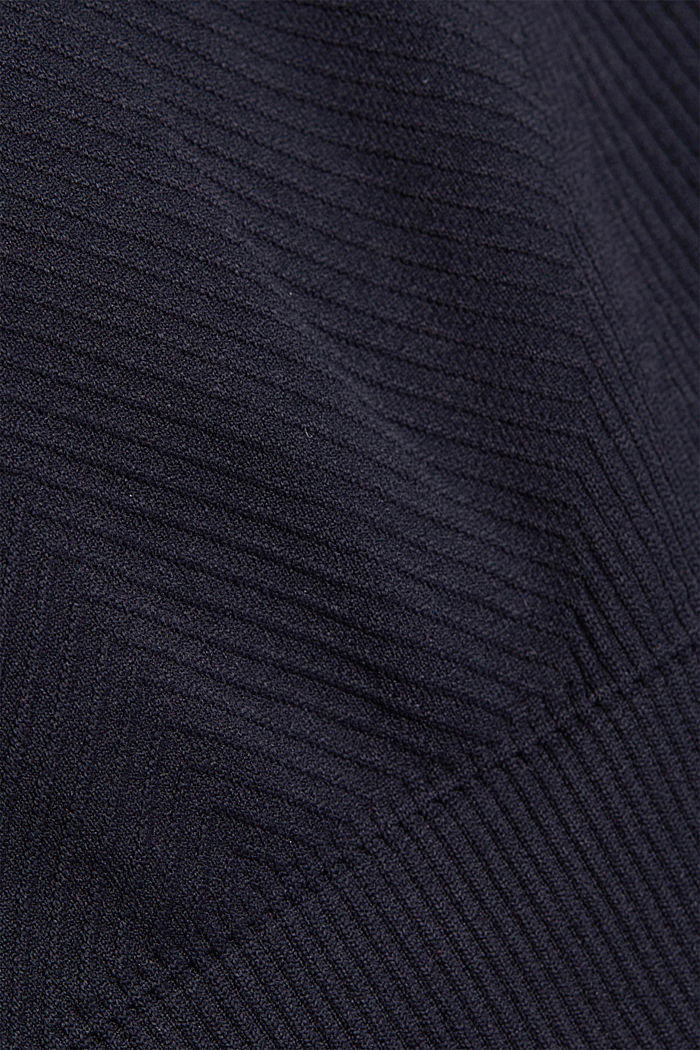 Gerecycled: naadloze sport-bh, NAVY, detail image number 4