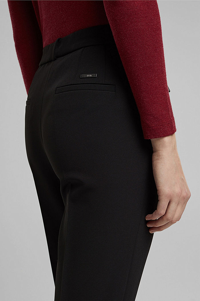 Two-way stretch trousers in a tracksuit style, BLACK, detail image number 2