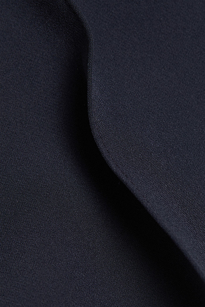 Two-way stretch trousers in a tracksuit style, NAVY, detail image number 4