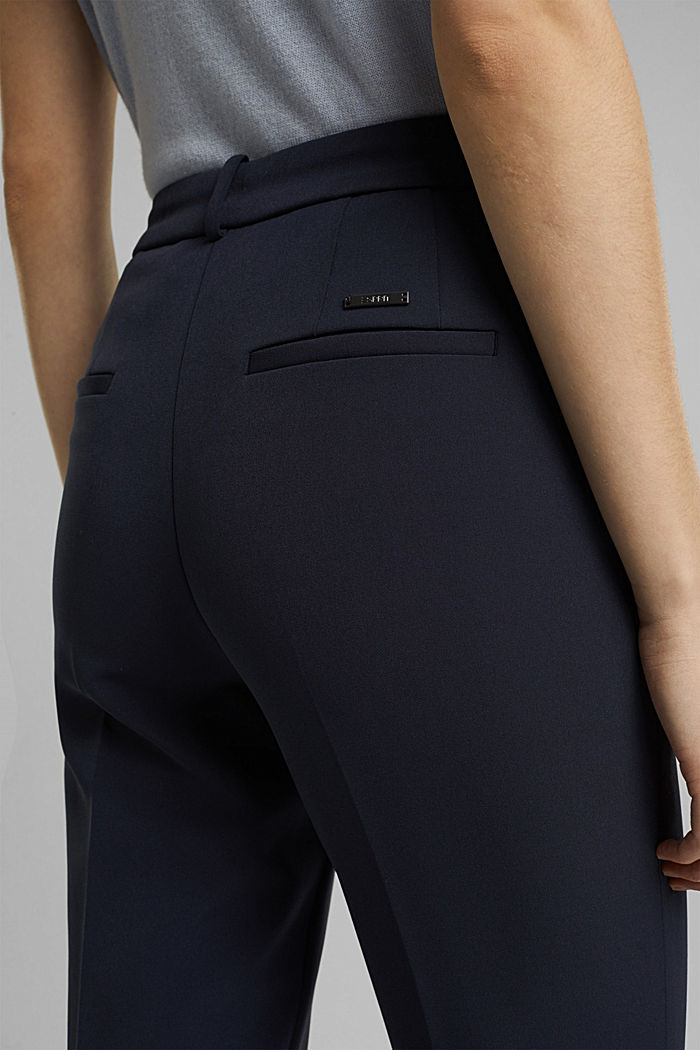 Two-way stretch trousers in a tracksuit style, NAVY, detail image number 5