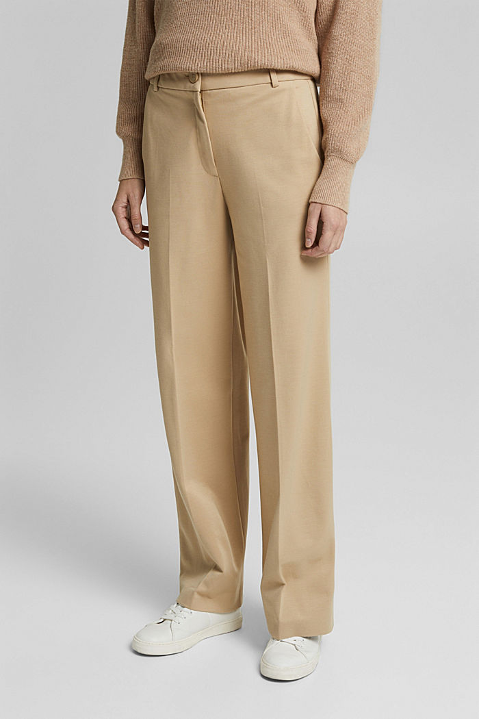 SOFT PUNTO Mix + Match stretch trousers, SAND, detail image number 0