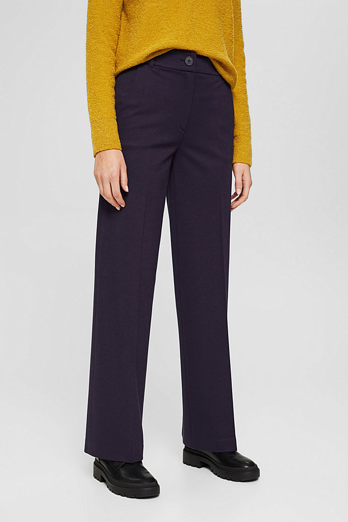 SOFT PUNTO Mix + Match stretch trousers, NAVY, detail image number 0