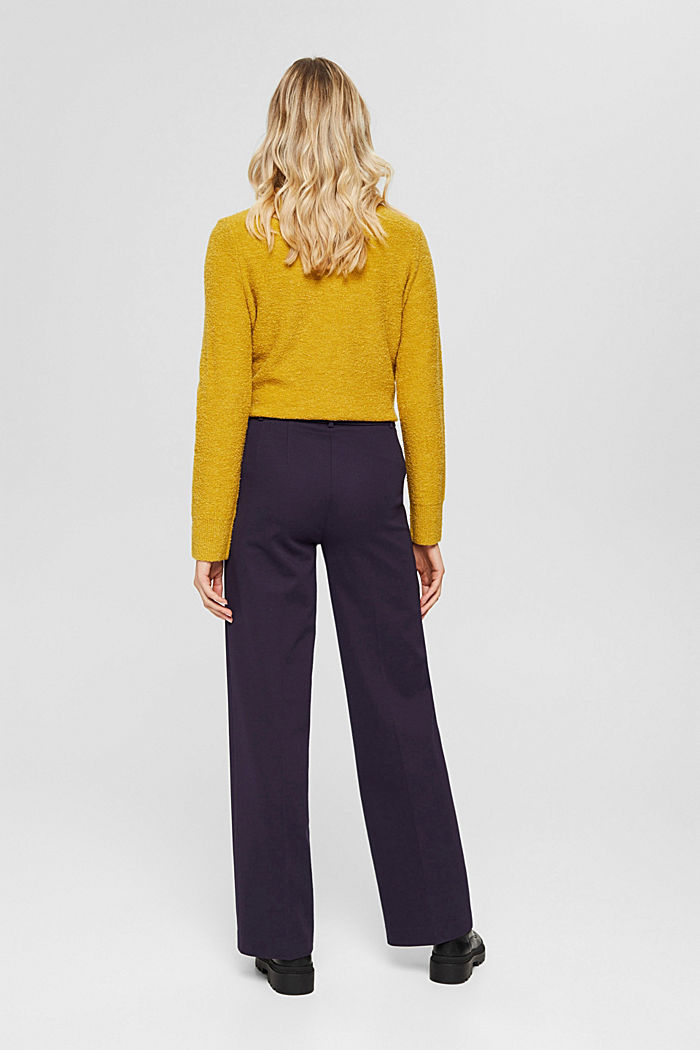 SOFT PUNTO Mix + Match stretch trousers, NAVY, detail image number 3