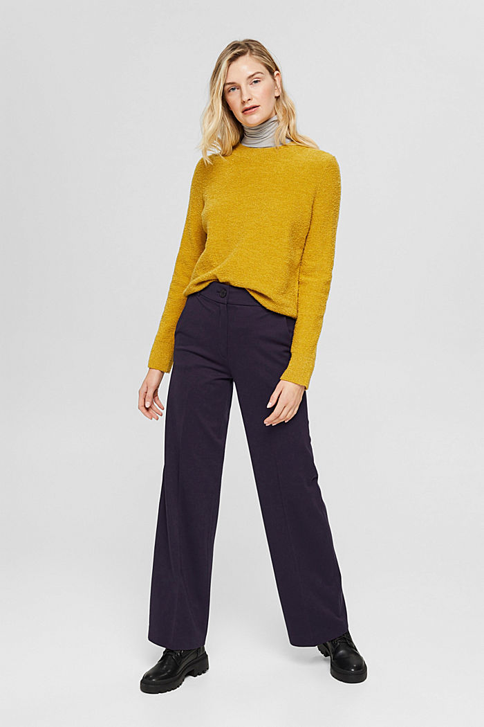 SOFT PUNTO Mix + Match stretch trousers, NAVY, detail image number 6