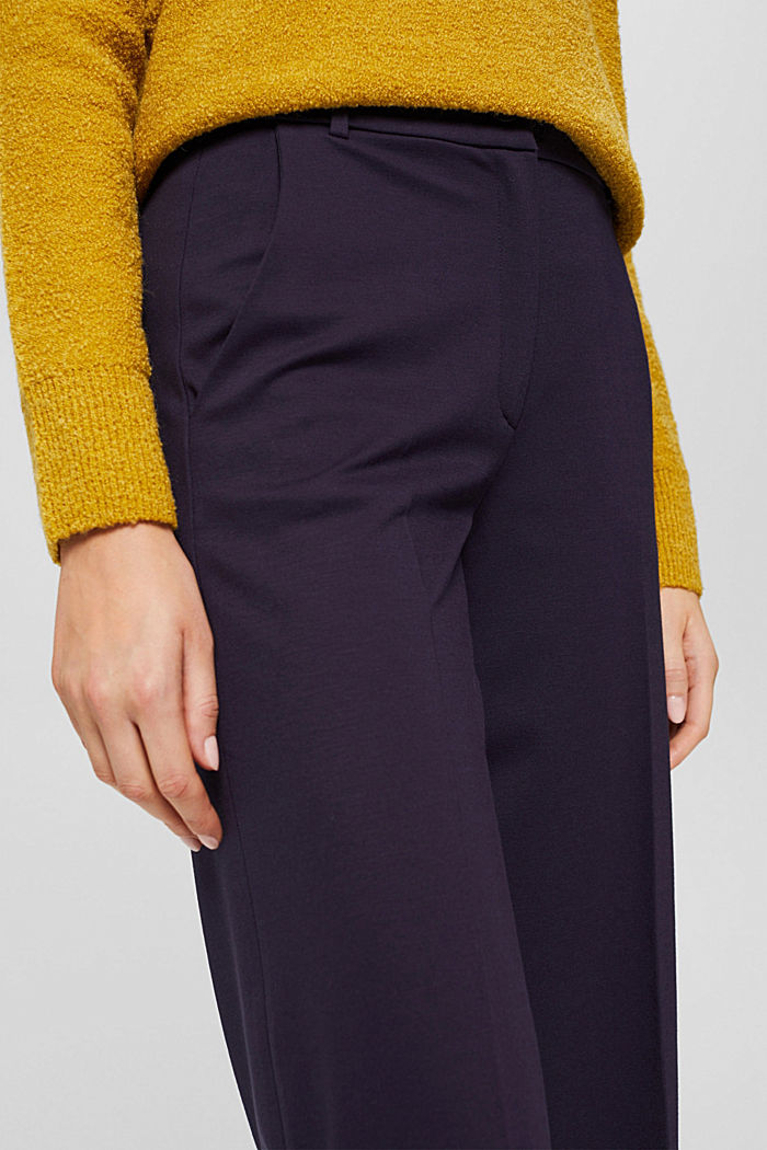 SOFT PUNTO Mix + Match stretch trousers, NAVY, detail image number 2