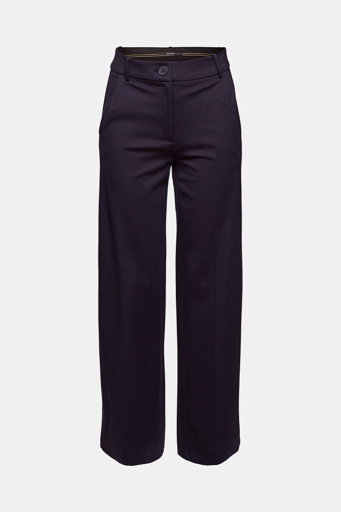 SOFT PUNTO Mix + Match stretch trousers, NAVY, detail image number 5