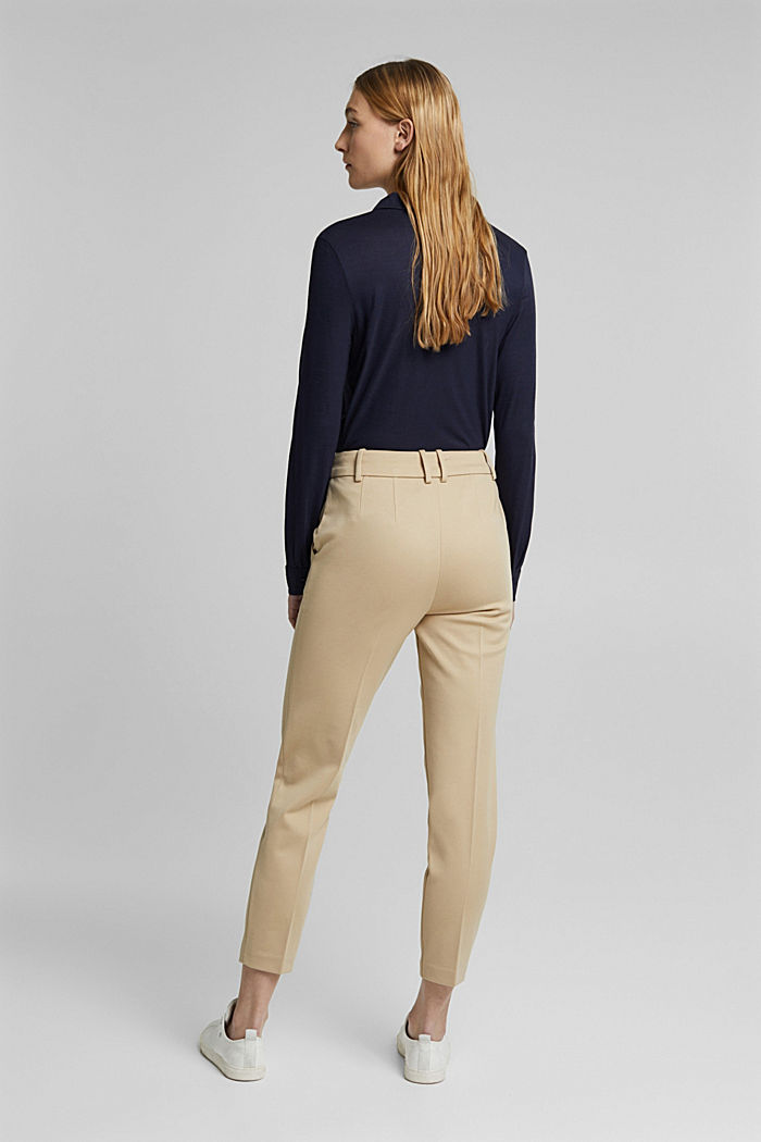SOFT PUNTO Mix + Match stretch trousers, SAND, detail image number 3