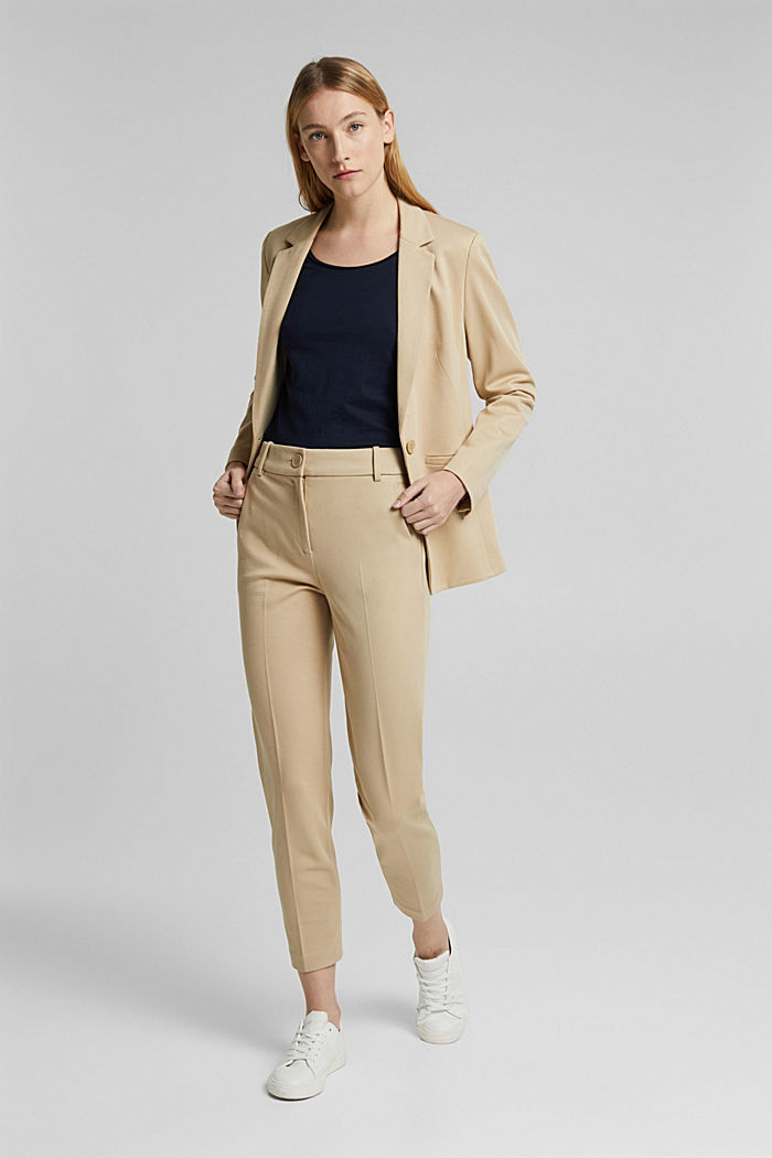 SOFT PUNTO Mix + Match stretch trousers, SAND, detail image number 1