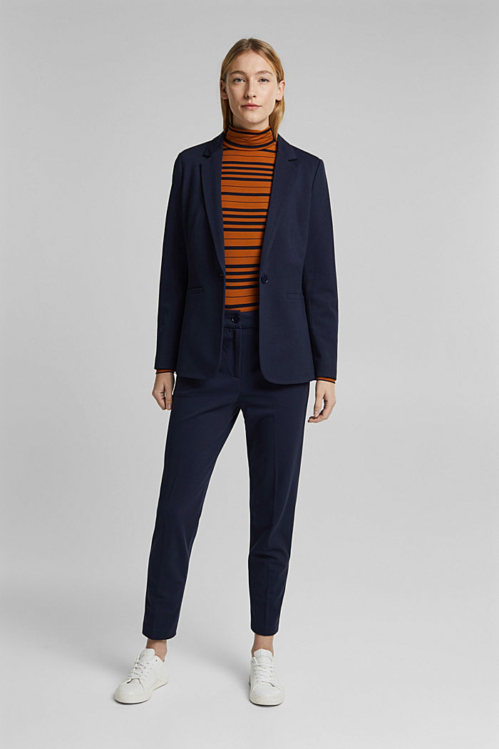 SOFT PUNTO Mix + Match stretch trousers, NAVY, detail image number 1